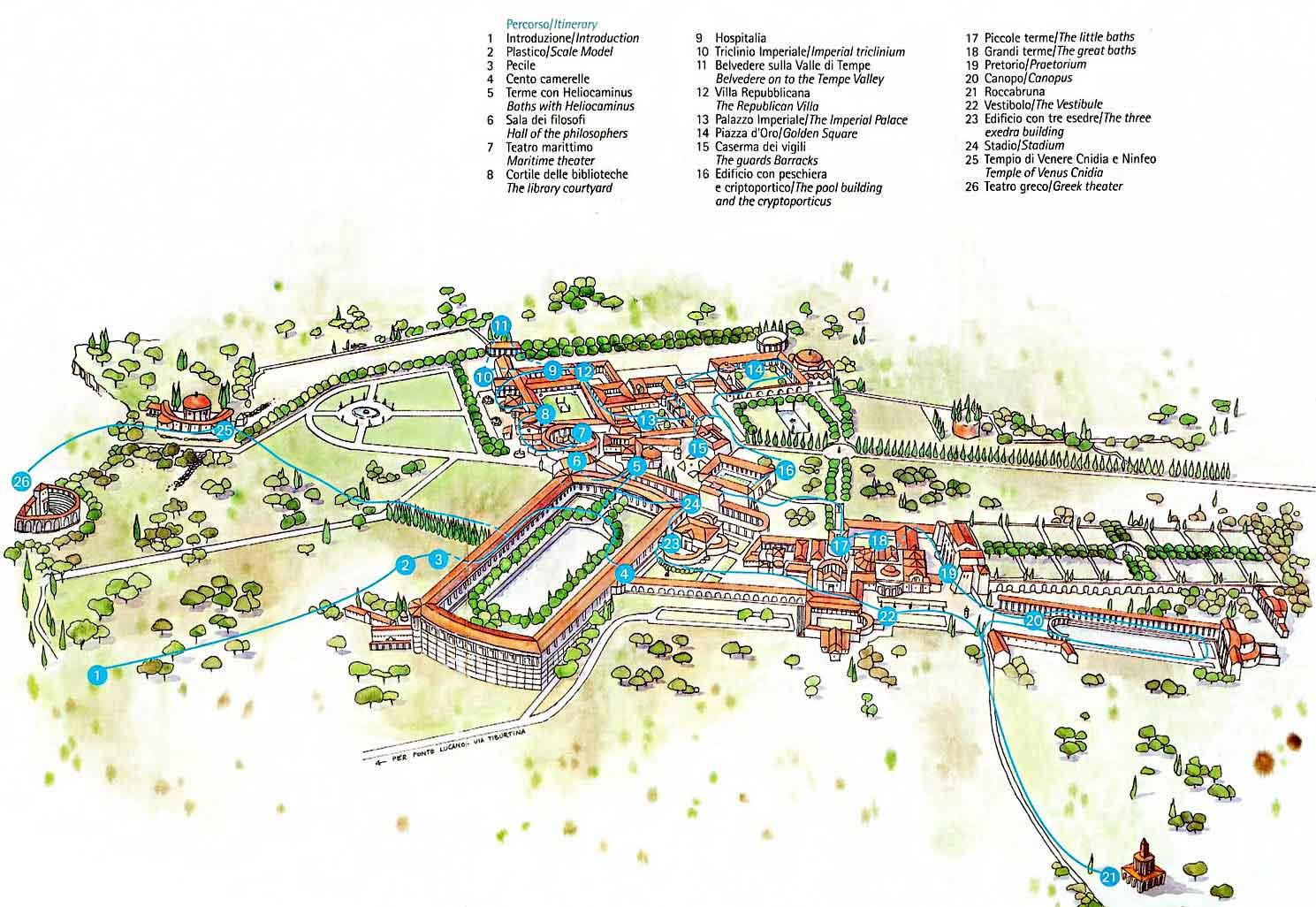Villa-Adriana-map