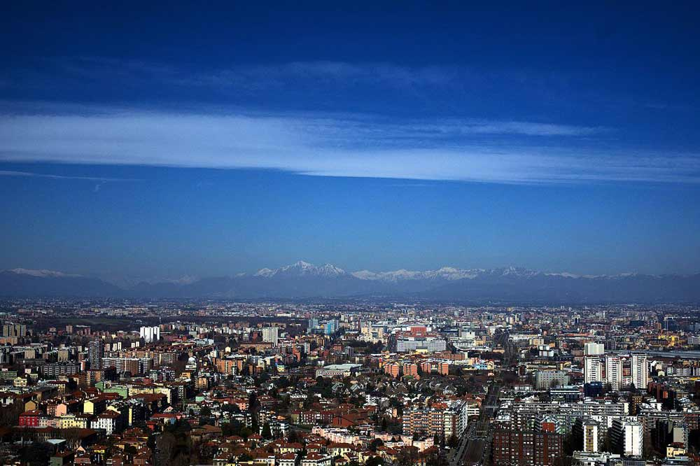 Панорамный вид на Милан смотровая площадка палаййо ломбардия