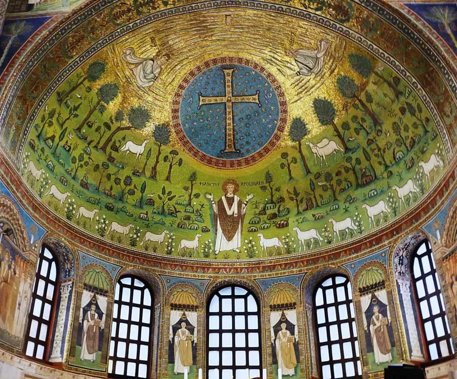 мозаика абсиды в Базилике Сант Аполлинаре ин Классе
