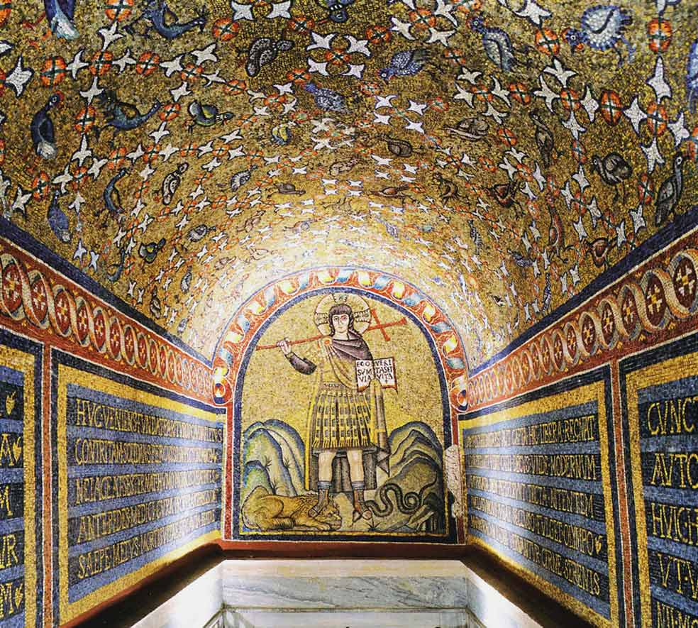Архиепископская капелла Святого Андрея мозаики Равенна