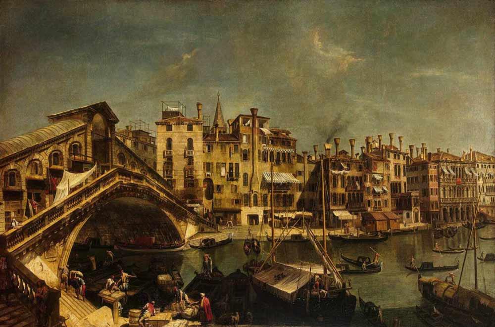 Мост Риальто на картине Микеле Мариески