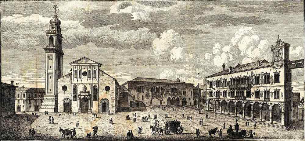 Беллуго главная площадь гравюра