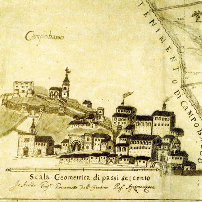 Замок Монфорте Кампобассо в средние века