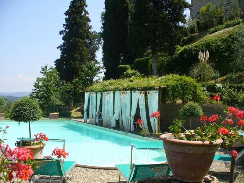 Поместье De' Cortesi сад и бассейн