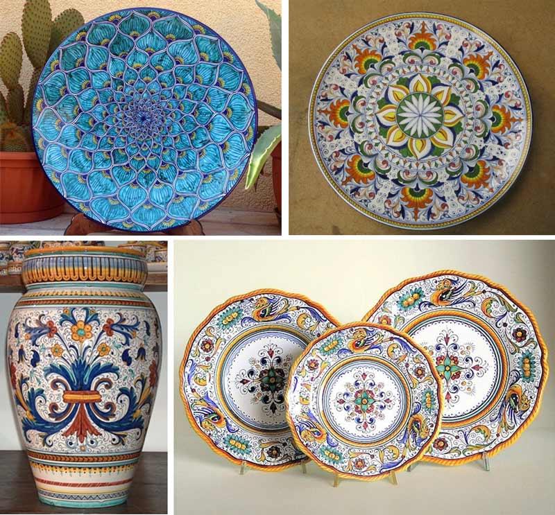 Итальянская керамика ручной работы, дерута, умбрия