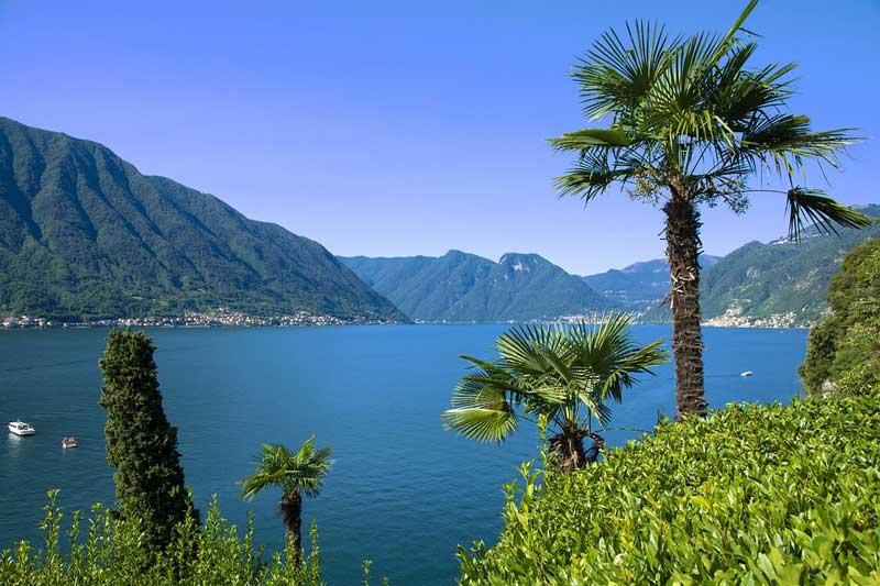 Озеро Комо в Италии панорама