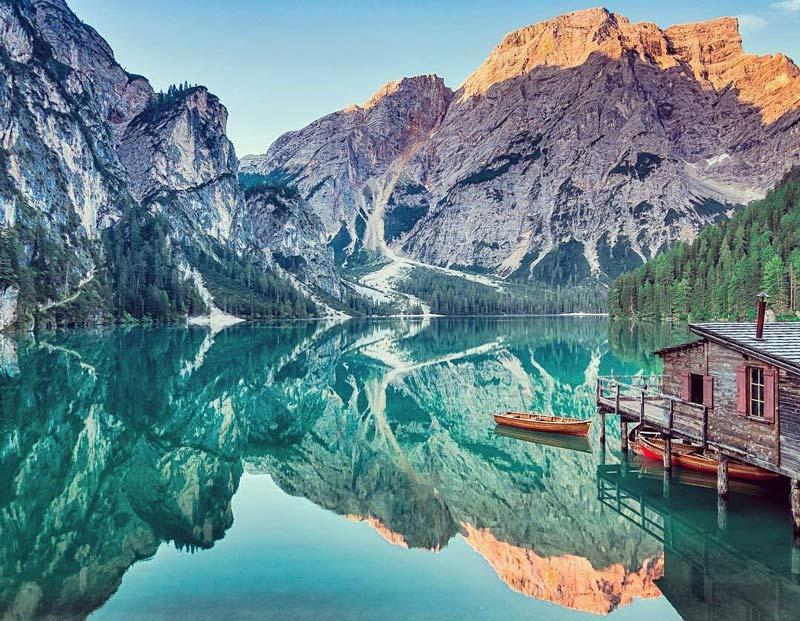 озеро брайес италия вид на альпы