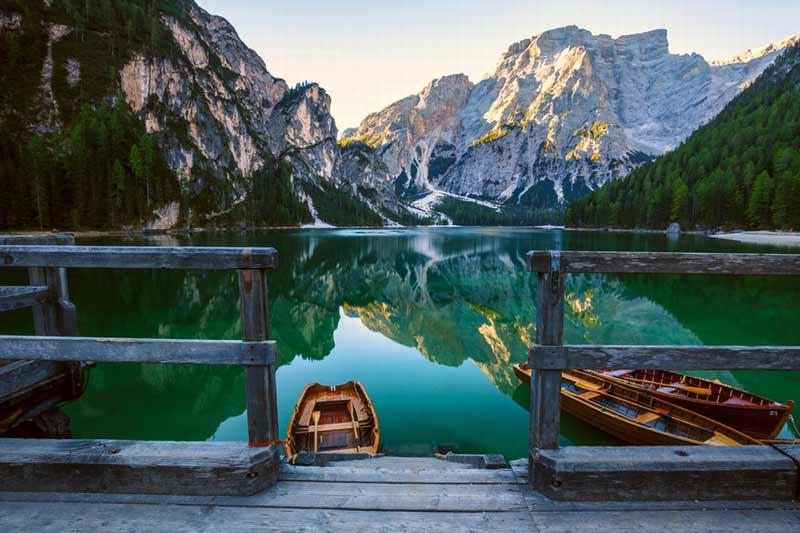 озеро ди брайес лодочная станция
