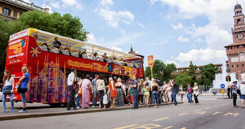 экскурсионные автобусы в милане, hop on hop off милан