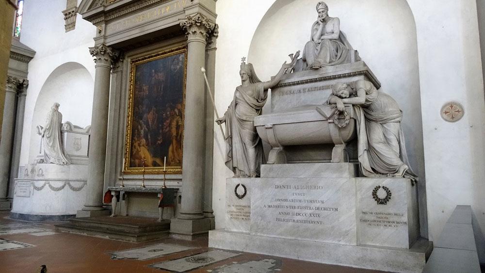 Санта Кроче Флоренция , кенотаф Данте