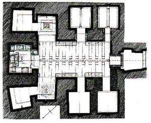 Гипогей Волумни Перуджа план гробницы
