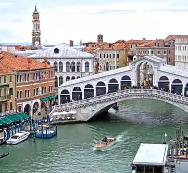 Мост Риальто, Венеция: онлайн камера