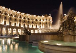 Площадь Республики в Риме.